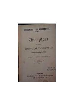 Cinq-Mars albo sprzysiężenie za Ludwika XIII, tom I, 1901 r.