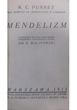 Mendelizm, 1913 r.