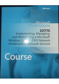 Microsoft Official Course 2277 C