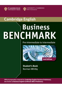 Business Benchmark Pre-intermediate to Intermediate Student's Book