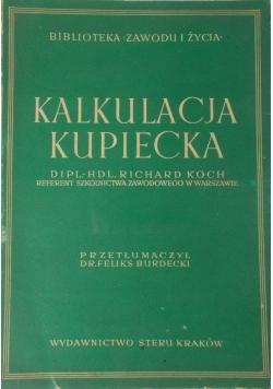 Kalkulacja kupiecka, 1943 r.