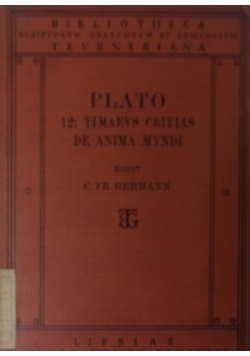 Platonis timaeus et critias