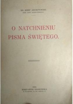 O natchnieniu pisma Świętego ,1930r.