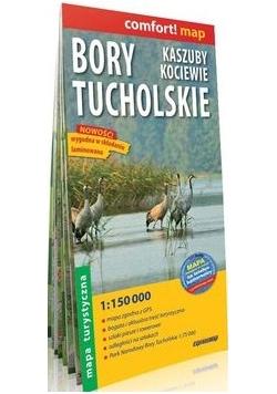 Bory Tucholskie, Kaszuby, Kociewie laminowana mapa turystyczna 1:150 000