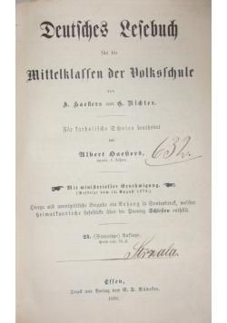 Deutsches Lesebuch ,1898r.