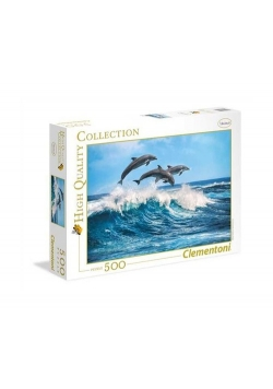 Puzzle High Quality Collection Dolphins 500