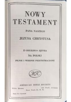 Nowy Testament Pana Naszego Jezusa Chrystusa, 1945 r.