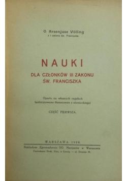 Nauki dla członków III Zakonu Św. Franciszka, Część I, 1929 r.
