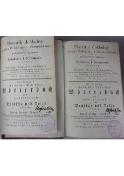 Słownik dokładny języka polskiego i niemieckiego do podręcznego używania dla Polaków i Niemców , 1806r.