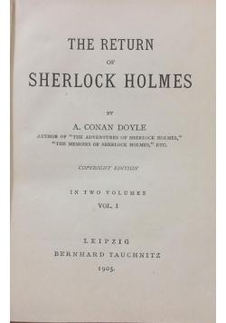 The return of Sherlock Holmes, 1905 r.