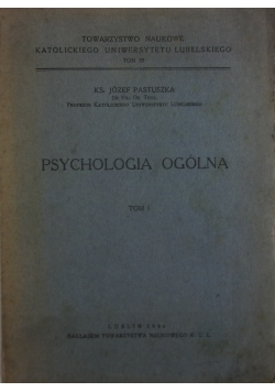 Psychologia ogólna tom I  - 1946 r.