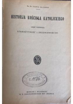 Historja kościoła katolickiego część I, 1923 r.