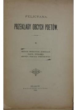 Przekład obcych poetów, tom II, 1892 r.