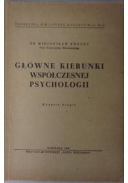 Główne kierunki współczesnej psychologii 1946 r.