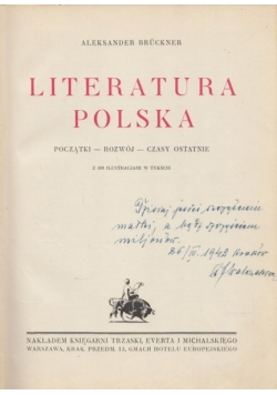Literatura Polska, 1930r.