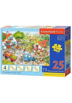 Puzzle Edukacyjne - Counting on the farm CASTOR