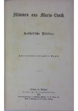 Stimmen aus Maria- Laach, 1887 r.