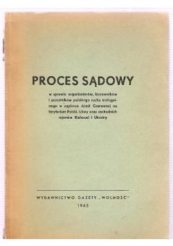 Proces sądowy w sprawie organizatorów kierowników , 1945 r.