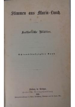 Stimmen aus Maria-Laach, 1900 r.