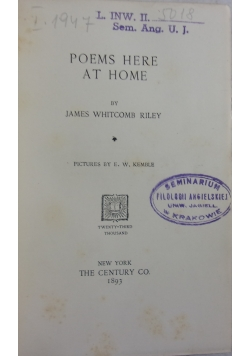 Poems Here at home, 1893r.