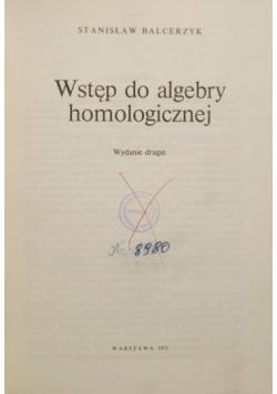 Wstęp do algebry homologicznej