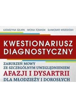 Kwestionariusz diagnostyczny. Arkusz diagnostyczny