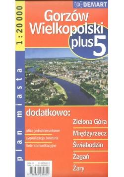 Zielona Góra plus 5 - plan miasta