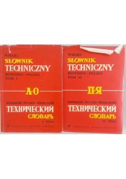 Słownik techniczny, rosyjski - polski,  tom I-II