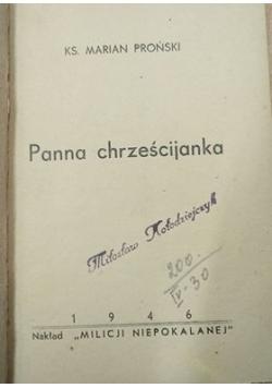 Panna chrześcijanka, 1946 r