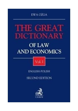 The Great Dictionary of Law and Economics T.1 w.2
