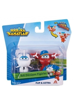 Super Wings 2-pak figurek transf. Flip & Astra
