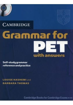 Cambridge Grammar for PET with answers + CD