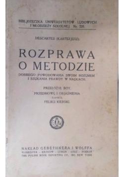 Rozprawa o metodzie, 1921 r.