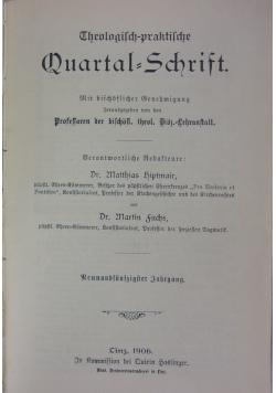 Quartal - Schrift, 1906 r.