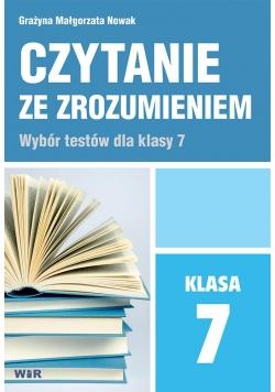 Czytanie ze zrozumieniem dla klasy 7 SP