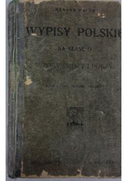 Wypisy polskie na klasę IV, wzory prozy i poetyki