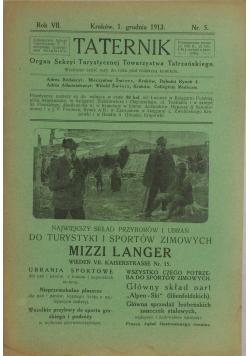Taternik - Grudzień 1913r.