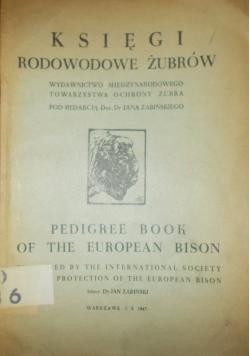 Księgi rodowe żubrów, 1947r