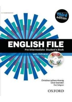 English File 3E Pre-Interm. SB with iTutor OXFORD