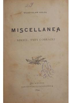 Miscellanea, 1894r