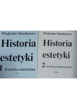 Historia estetyki tom 1-2