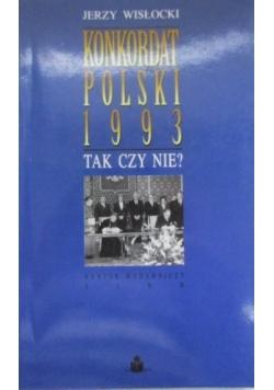 Konkordat Polski 1993. Tak czy nie?