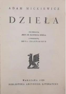 Dzieła, 1929 r.