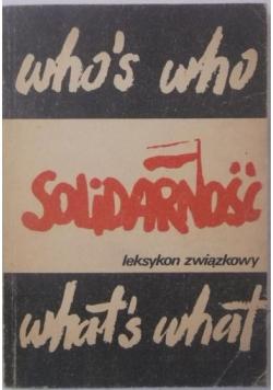 Solidarność Leksykon związkowy