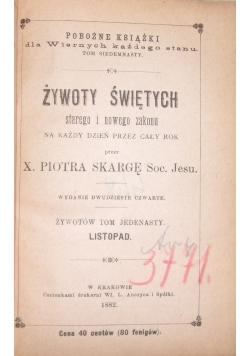 Żywoty Świętych starego i nowego zakonu,1882 r.