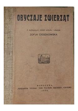 Obyczaje zwierząt, 1928 r.