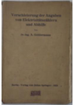 Verschleierung der Angaben von Elektrizitatszahlern  und Abhilfe, 1923 r.