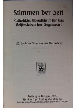 Stimmen der Zeit. Katholische Monatsschrift für das geistesleben der Gegenwart, 1915 r.