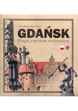 Gdańsk Mapa ręcznie malowana