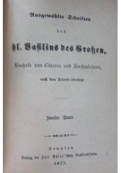Ausgewahlte Schristen des hl. Gregor von Razianz. Zweiter Band. 1877 r.